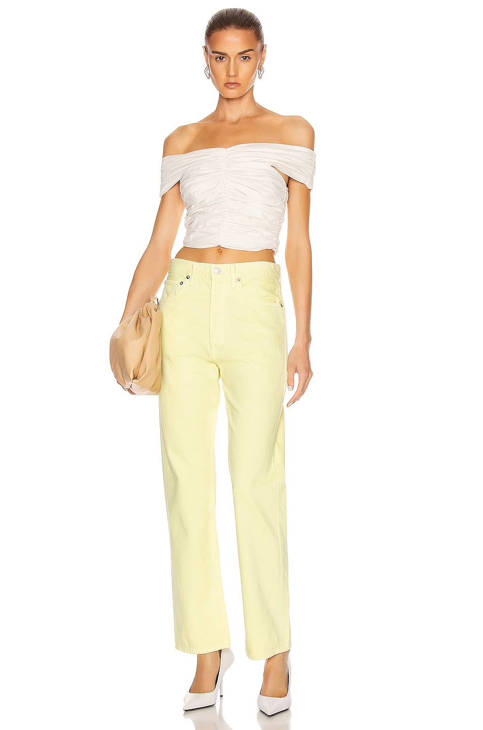 Image 4 of AGOLDE 90's Mid Rise Loose Fit in Limoncello
