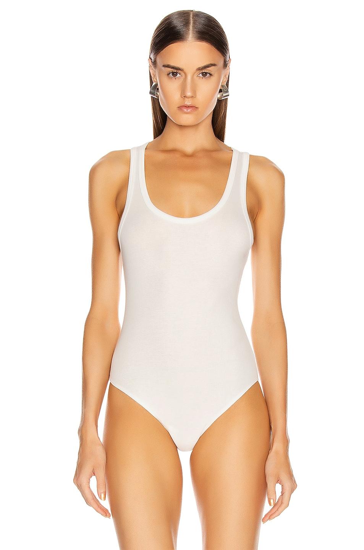 Image 2 of AGOLDE Rib Tank Bodysuit in White