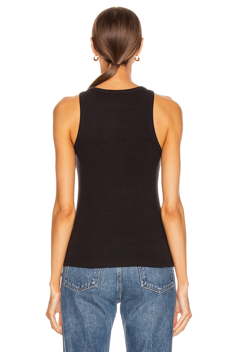 Image 3 of AGOLDE Rib Tank in Black