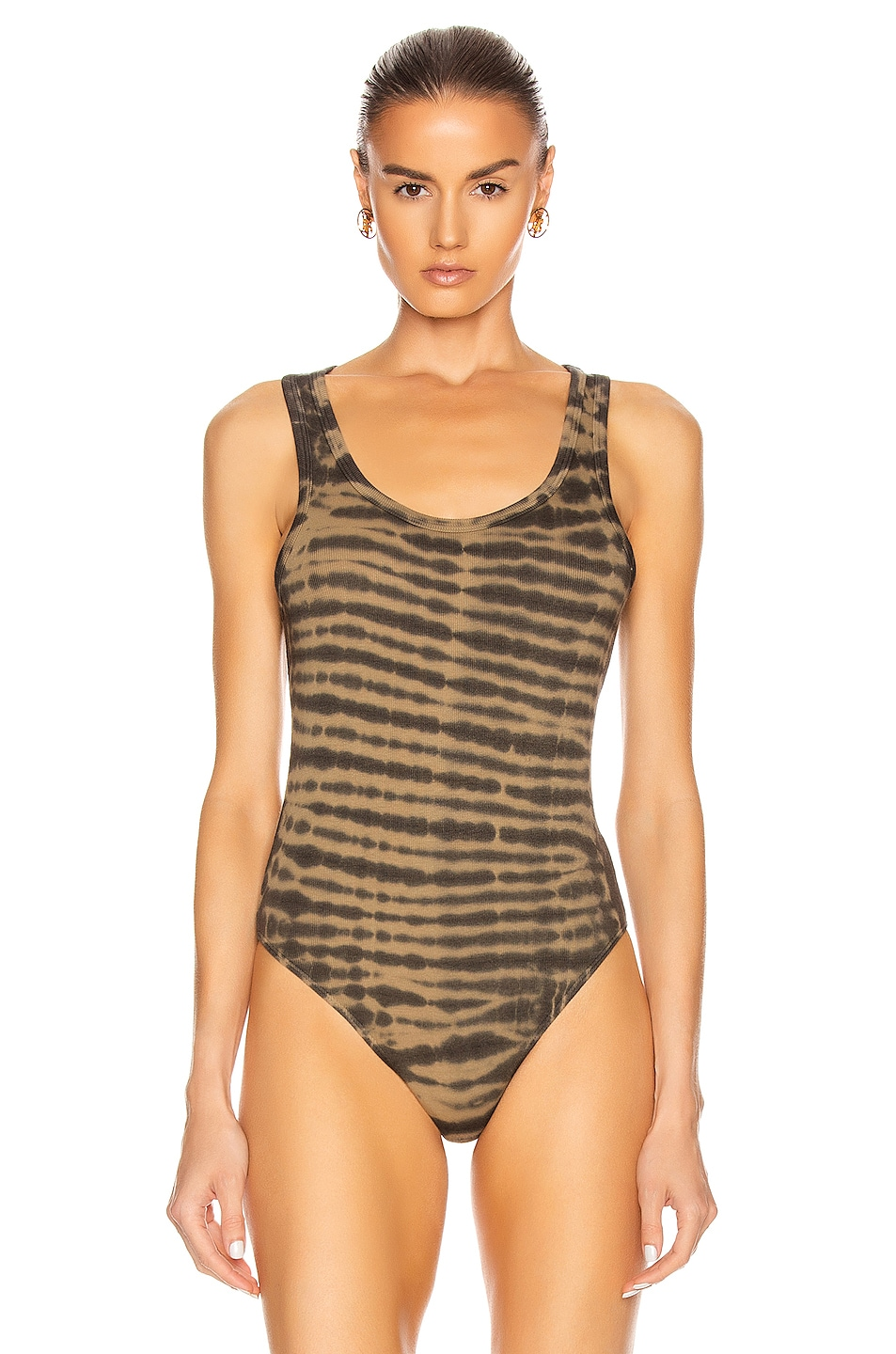 Image 2 of AGOLDE Rib Tank Bodysuit in Rewind