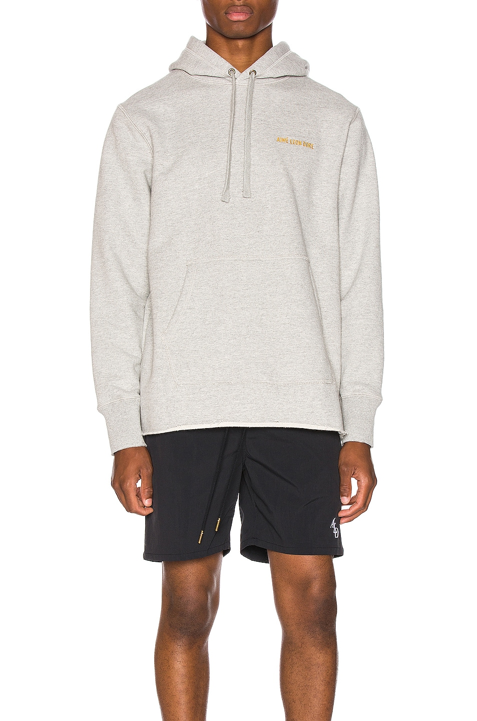 Image 1 of Aime Leon Dore Distressed Hoodie in Heather Grey