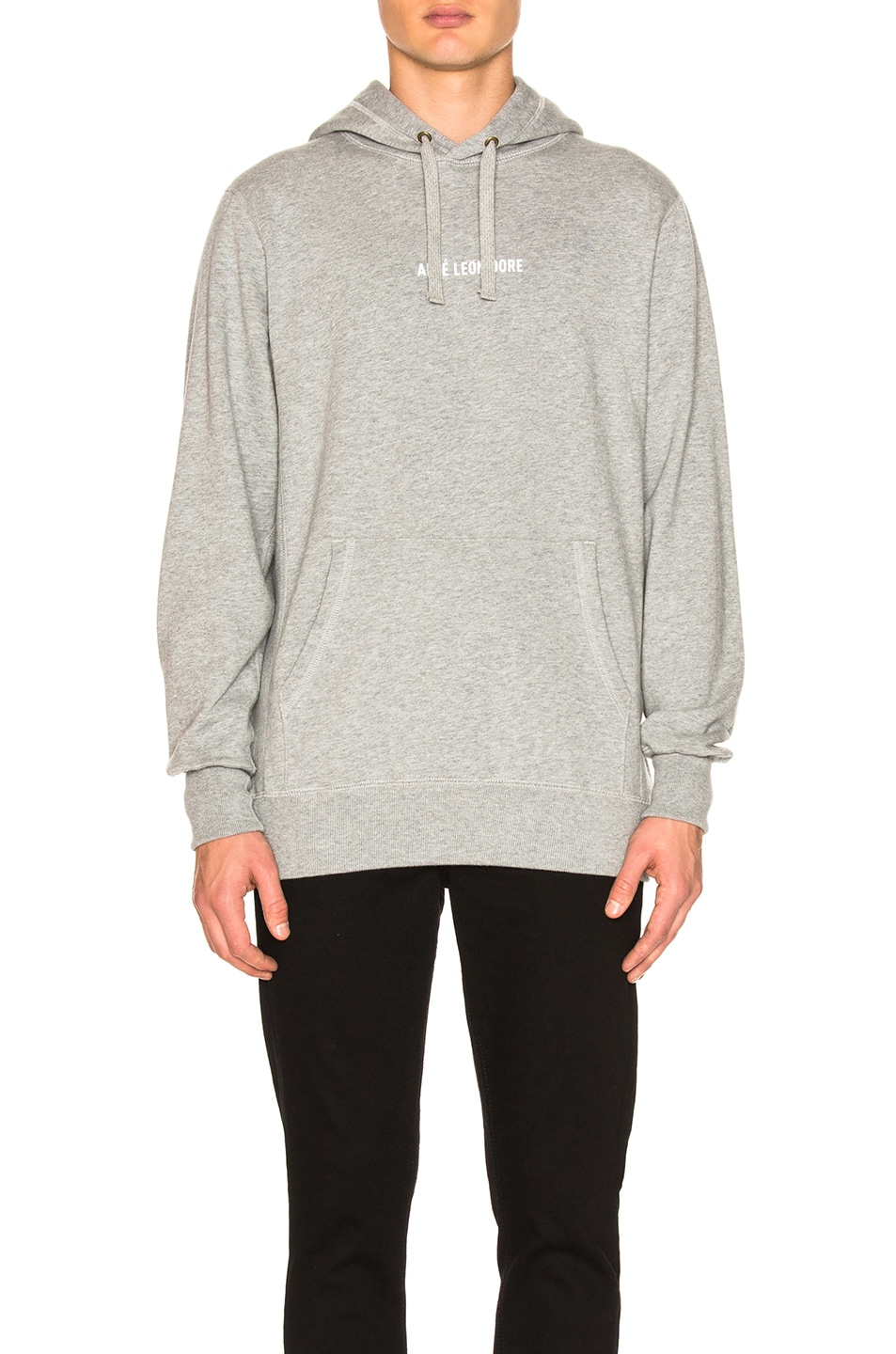 Image 1 of Aime Leon Dore Logo Kanga Hoodie in Grey Mix
