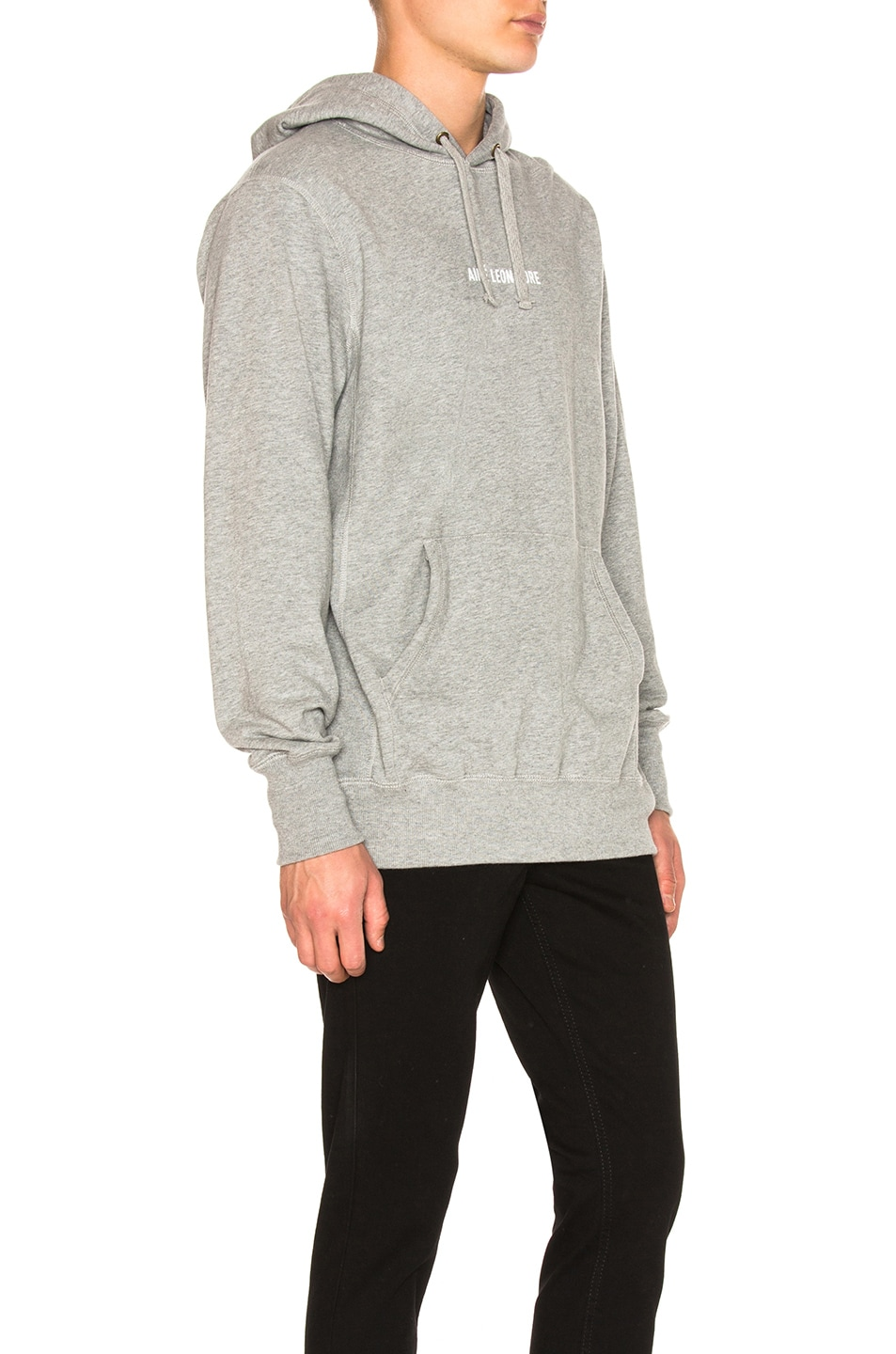 Image 2 of Aime Leon Dore Logo Kanga Hoodie in Grey Mix