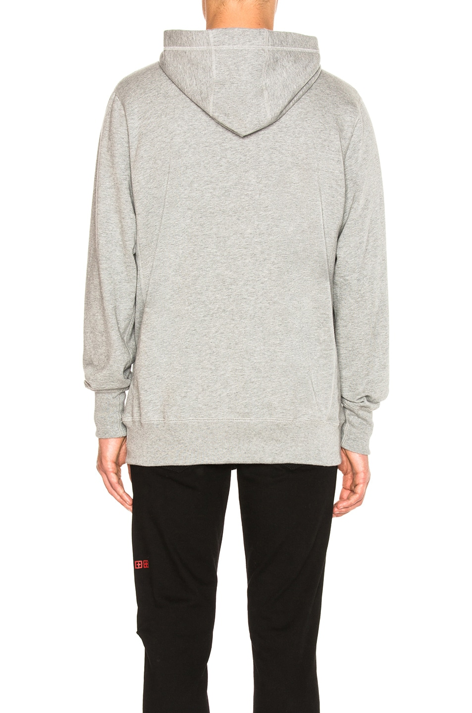 Image 3 of Aime Leon Dore Logo Kanga Hoodie in Grey Mix