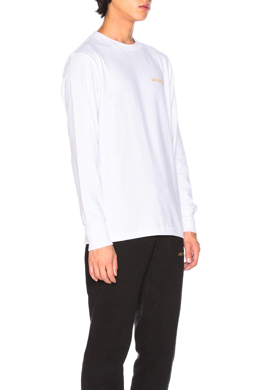 Image 2 of Aime Leon Dore Long Sleeve Logo Tee in White