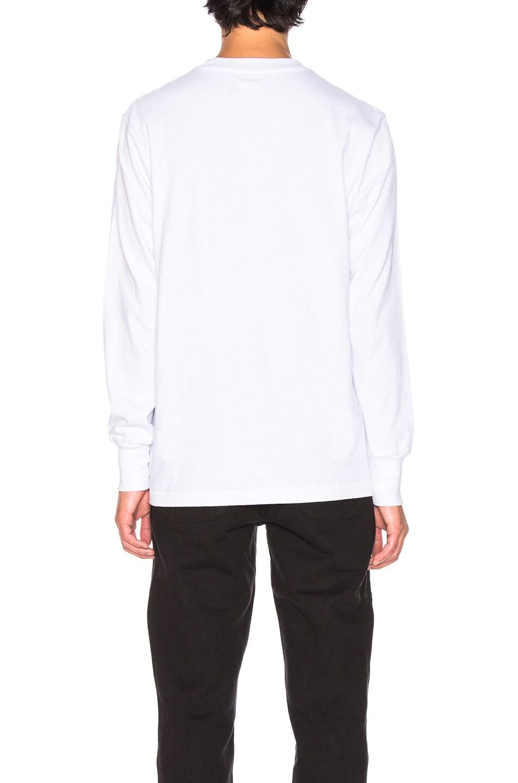Image 3 of Aime Leon Dore Long Sleeve Logo Tee in White