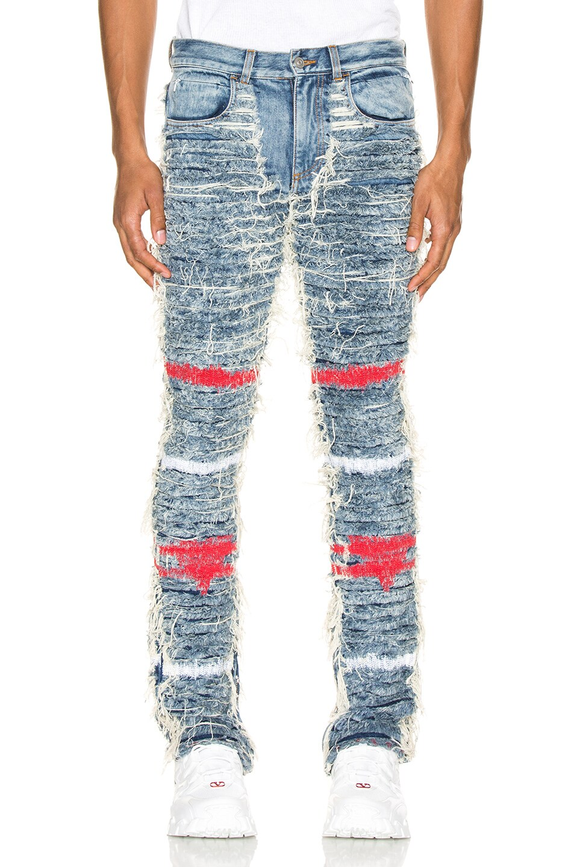 Image 1 of 1017 ALYX 9SM x Blackmeans Jeans in Blue Denim
