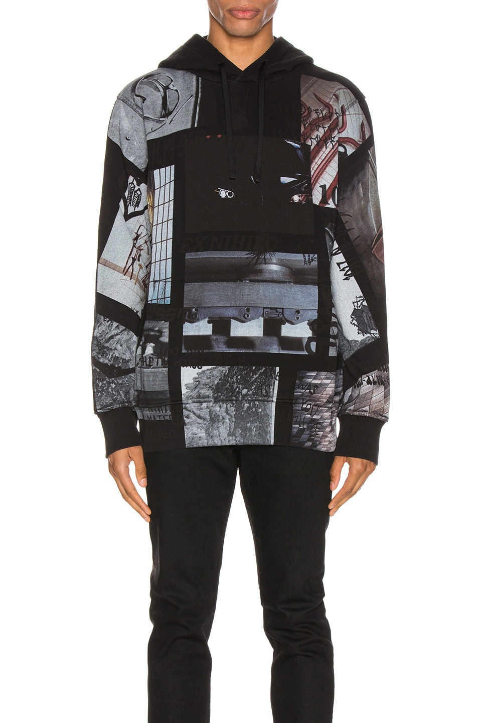 Image 1 of 1017 ALYX 9SM All Over Print Hoodie in Black