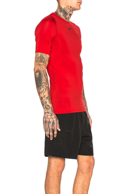 Image 2 of 1017 ALYX 9SM Nike Sponge Laser Logo Tee in Red