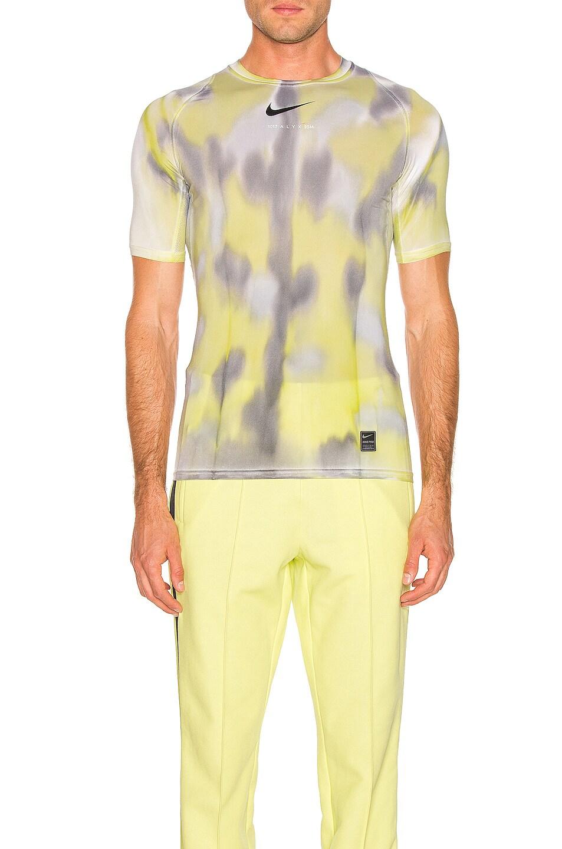 Image 1 of 1017 ALYX 9SM Nike Sponge Camo & Transfer Tee in Neon Camo