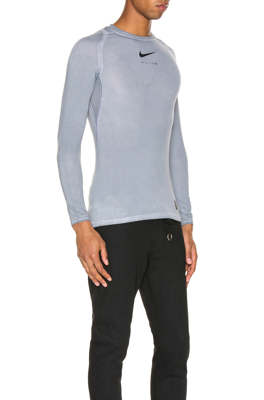 Image 2 of 1017 ALYX 9SM Nike Long Sleeve Dye Tee in Grey