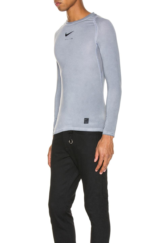 Image 3 of 1017 ALYX 9SM Nike Long Sleeve Dye Tee in Grey