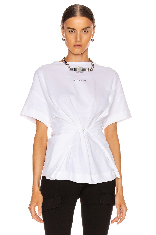 Image 1 of 1017 ALYX 9SM Short Sleeve Hook Tee in White