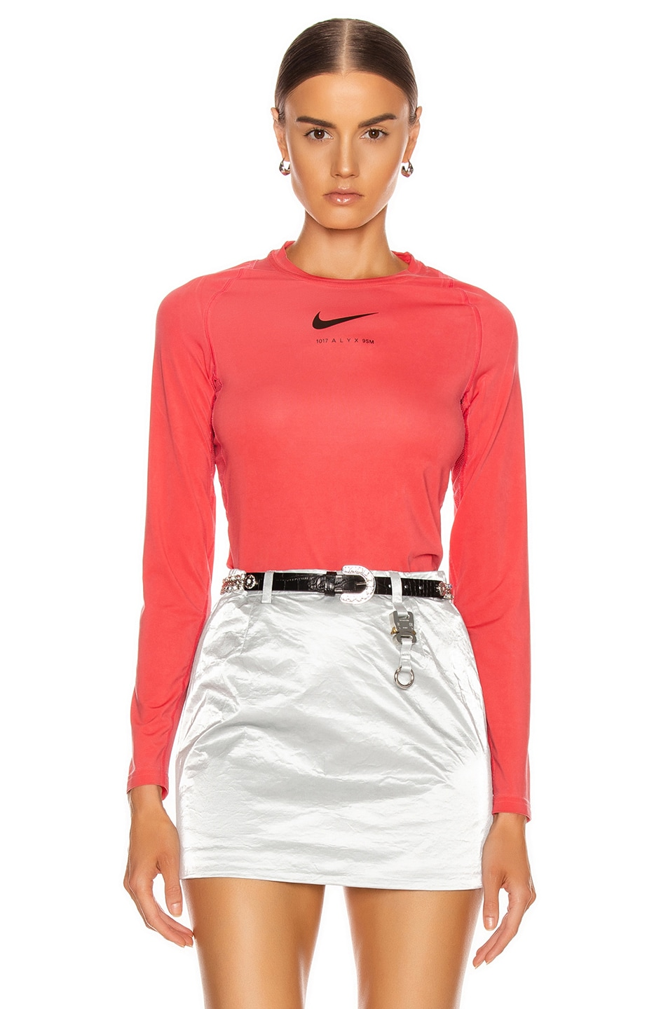 Image 1 of 1017 ALYX 9SM X Nike Long Sleeve T Shirt in Red