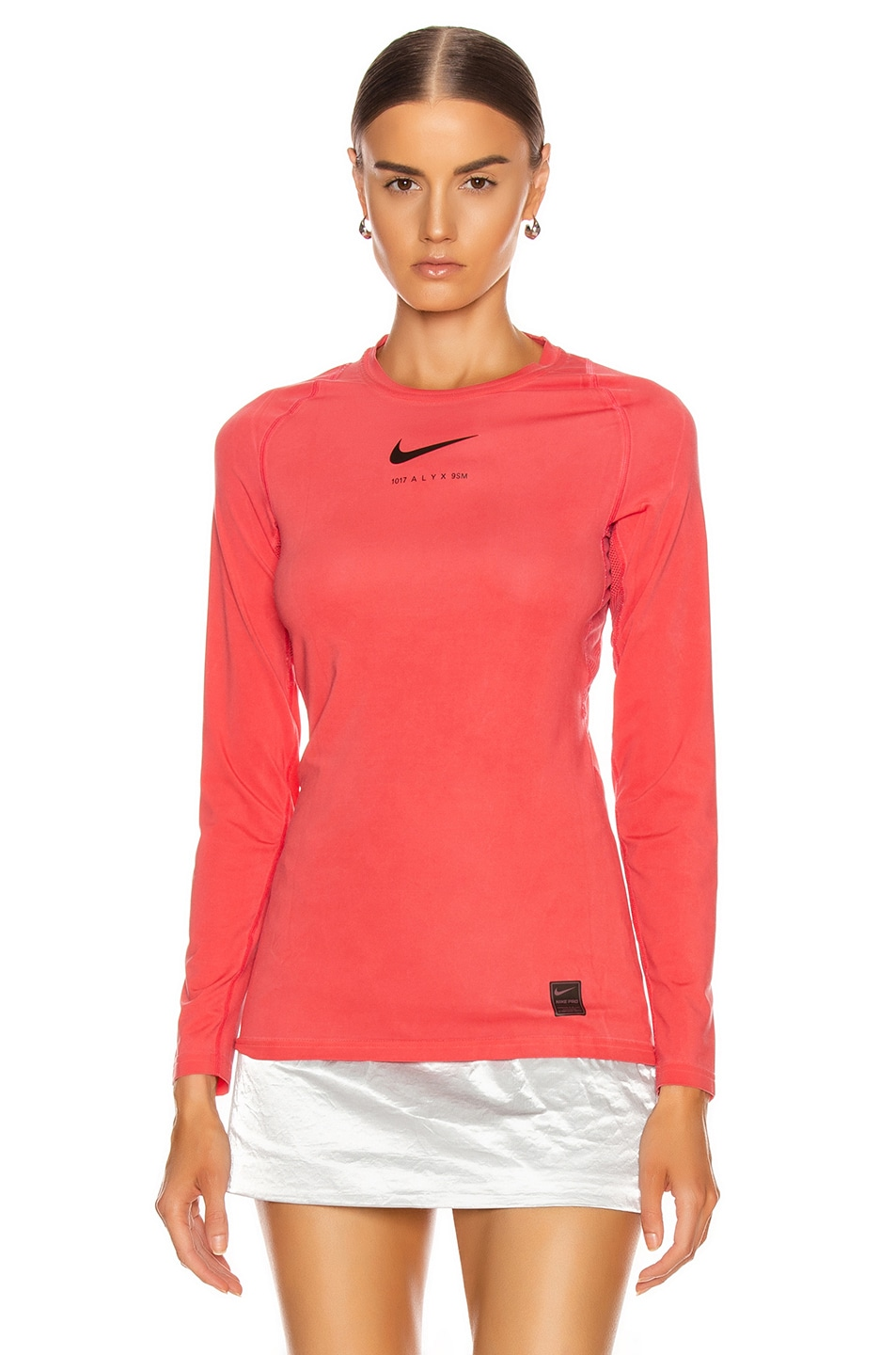Image 2 of 1017 ALYX 9SM X Nike Long Sleeve T Shirt in Red