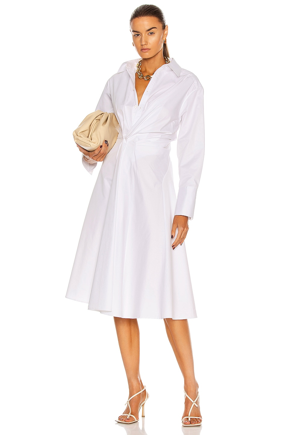 Image 1 of AKNVAS Sophie Dress in White