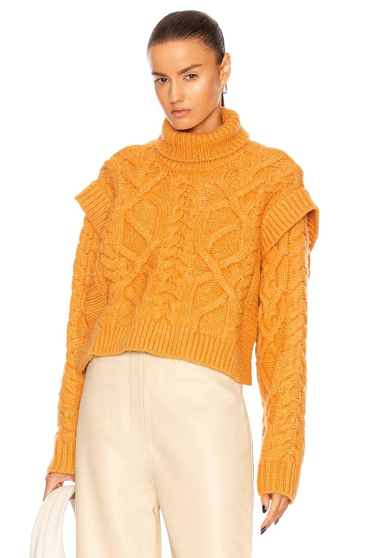 Image 1 of AKNVAS Bonnie Wool Sweater in Cinnamon