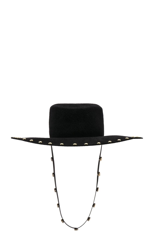 Image 1 of ALBERTA FERRETTI Embellished Western Hat in Black