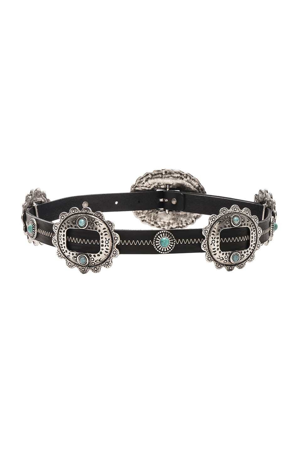 Image 3 of ALBERTA FERRETTI Oval Western Belt in Black