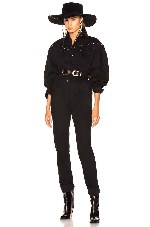 Image 1 of ALBERTA FERRETTI Studded Western Jumpsuit in Black