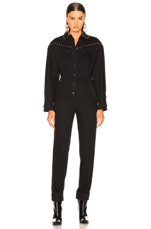Image 2 of ALBERTA FERRETTI Studded Western Jumpsuit in Black