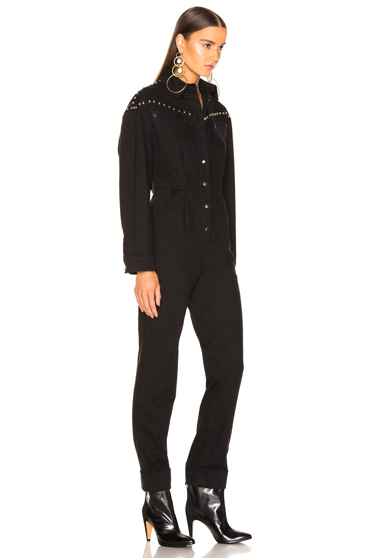 Image 3 of ALBERTA FERRETTI Studded Western Jumpsuit in Black