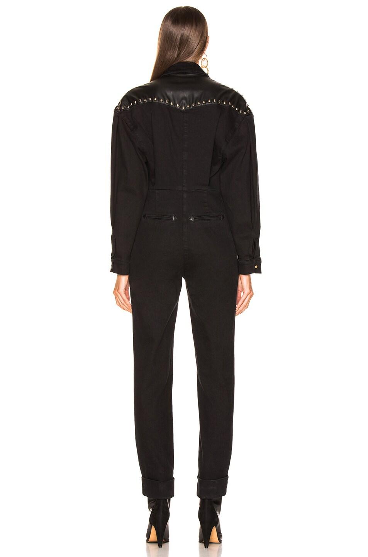 Image 4 of ALBERTA FERRETTI Studded Western Jumpsuit in Black