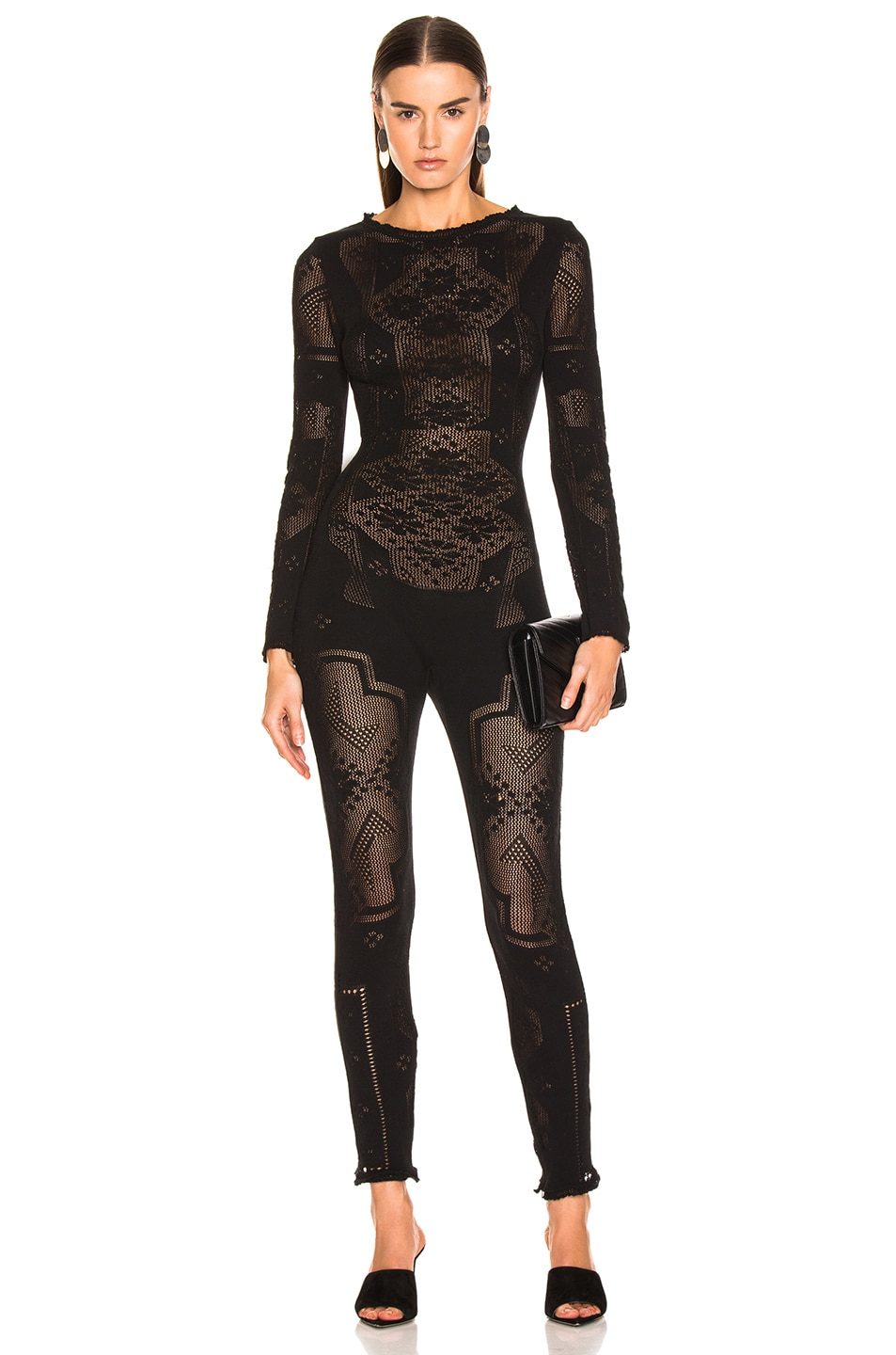 Image 1 of ALBERTA FERRETTI Long Sleeve Jumpsuit in Black