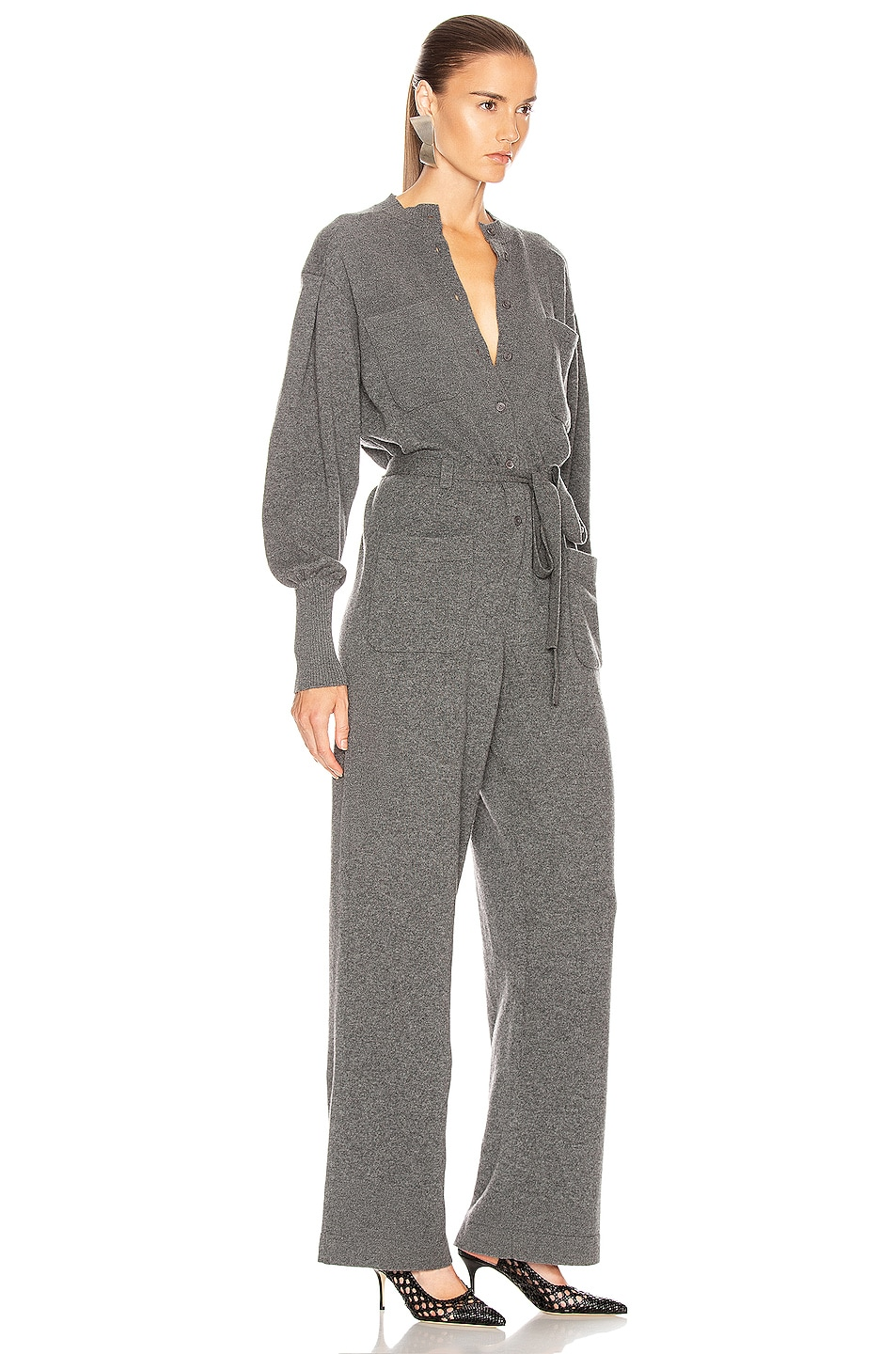 Image 2 of ALBERTA FERRETTI Cashmere Tie Jumpsuit in Grey