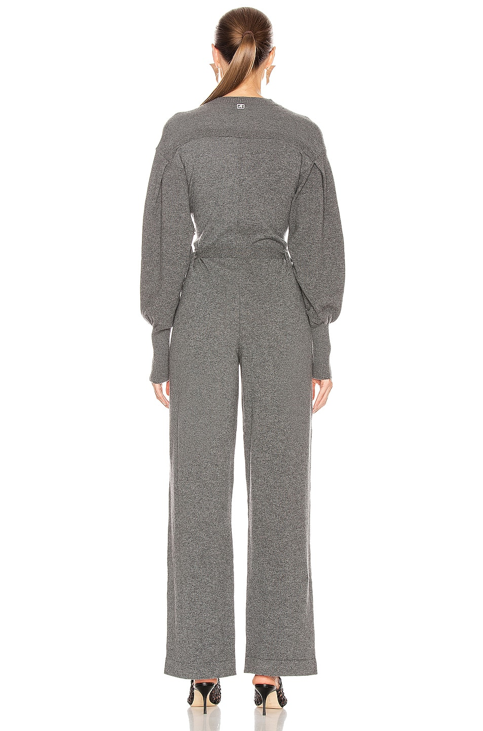 Image 3 of ALBERTA FERRETTI Cashmere Tie Jumpsuit in Grey