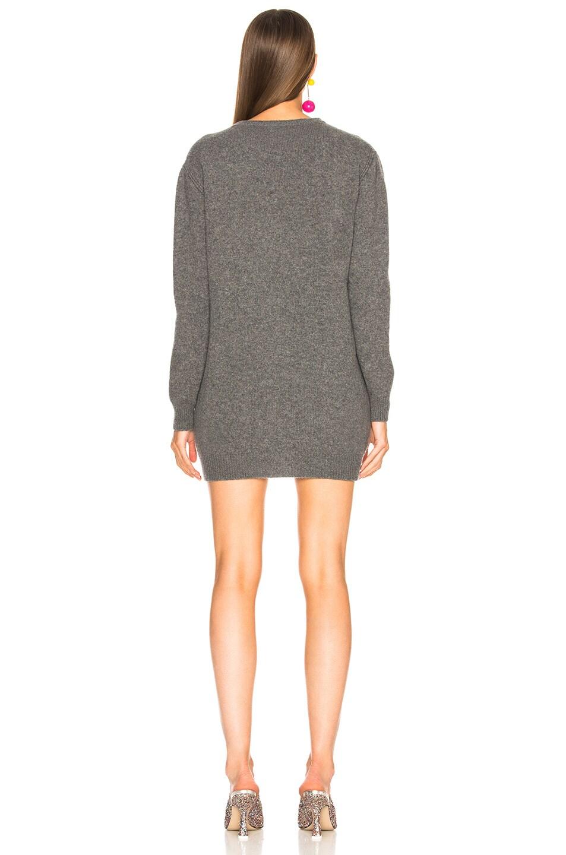 Image 3 of ALBERTA FERRETTI Sunday Crewneck Sweater Dress in Grey & Pink
