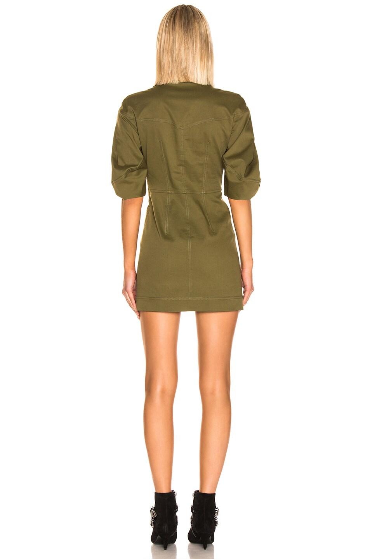 Image 3 of ALBERTA FERRETTI Lace Up Mini Dress in Olive