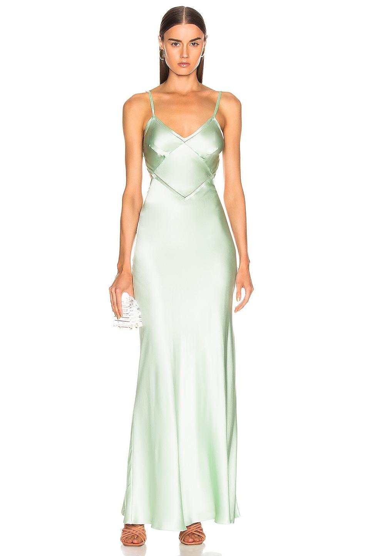Image 1 of ALBERTA FERRETTI Slip Dress in Green