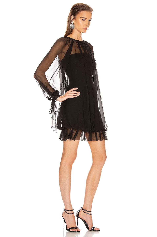 Image 2 of ALBERTA FERRETTI Ruffle Mini Dress in Black