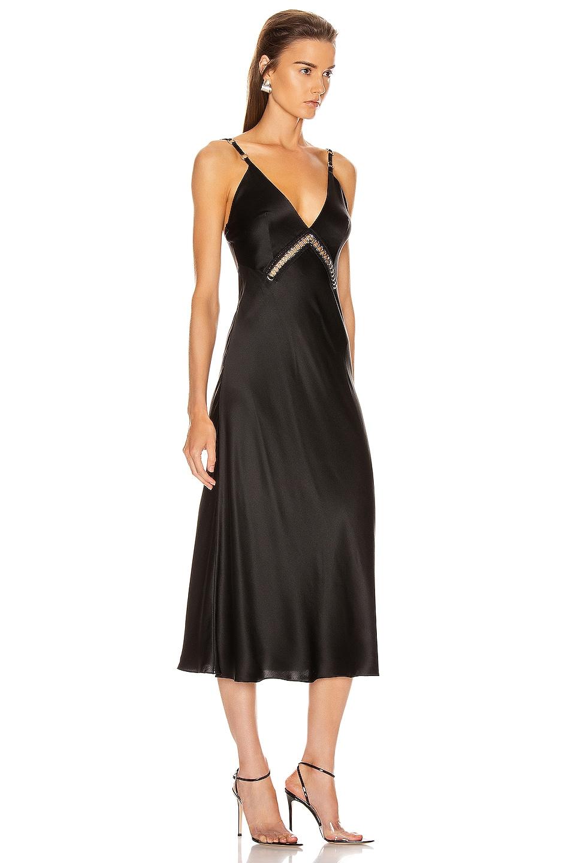 Image 2 of ALBERTA FERRETTI Slip Midi Dress in Black
