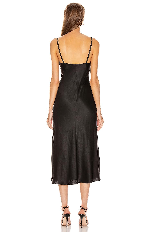 Image 3 of ALBERTA FERRETTI Slip Midi Dress in Black
