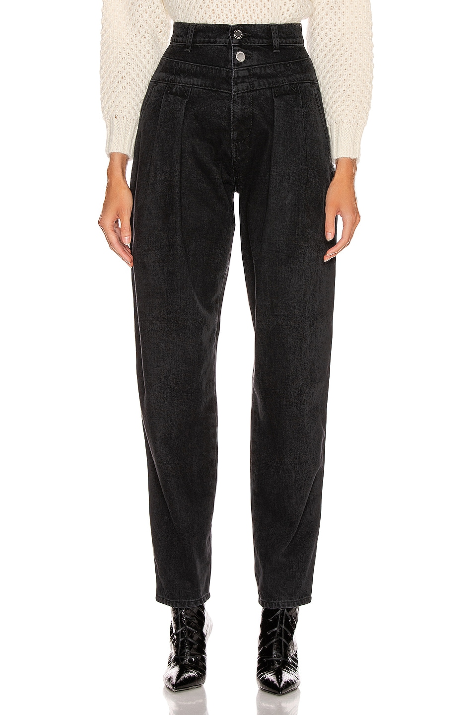 Image 1 of ALBERTA FERRETTI High Waisted Jean in Black