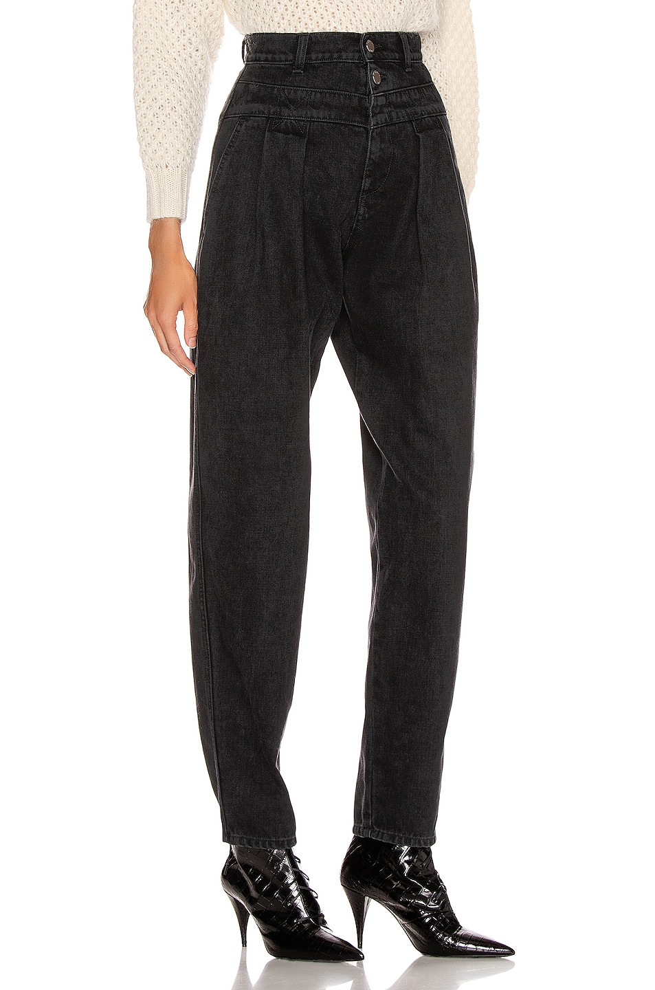 Image 2 of ALBERTA FERRETTI High Waisted Jean in Black