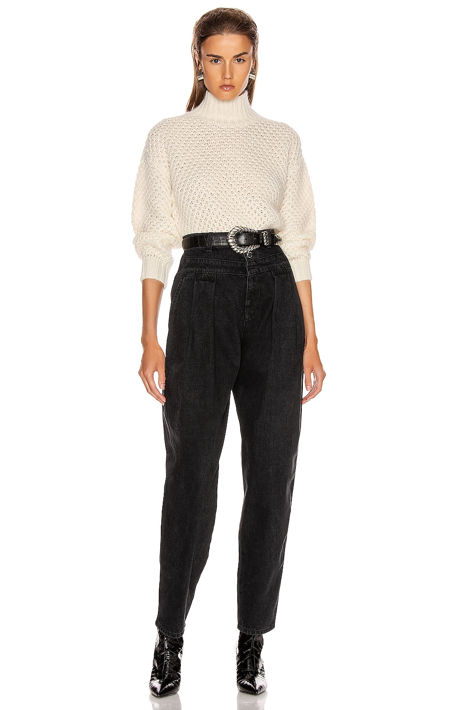 Image 4 of ALBERTA FERRETTI High Waisted Jean in Black