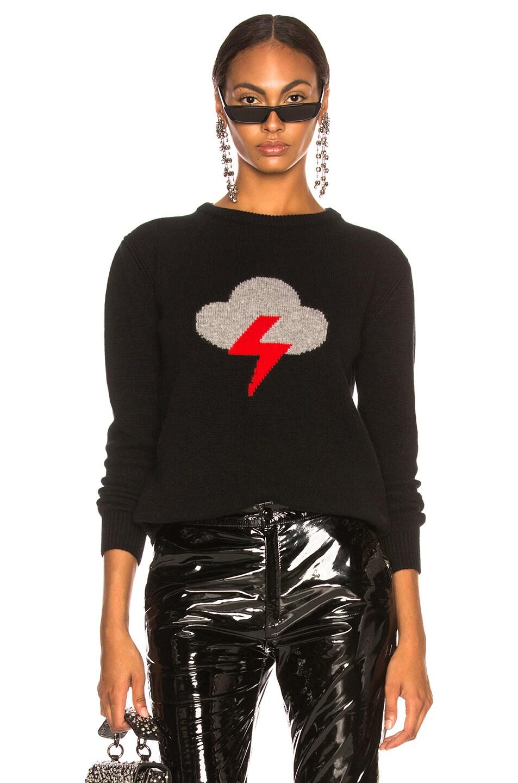 Image 1 of ALBERTA FERRETTI Thunderstorm Crewneck Sweater in Black, Grey & Red