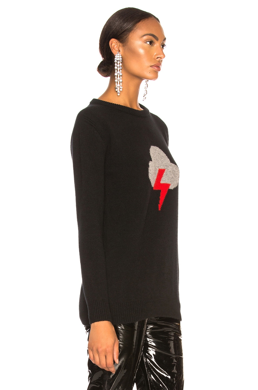 Image 3 of ALBERTA FERRETTI Thunderstorm Crewneck Sweater in Black, Grey & Red
