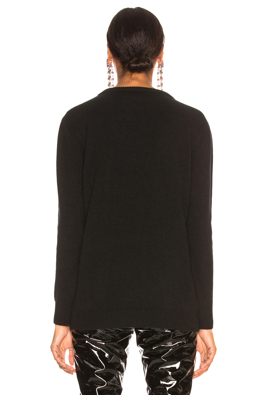 Image 4 of ALBERTA FERRETTI Thunderstorm Crewneck Sweater in Black, Grey & Red