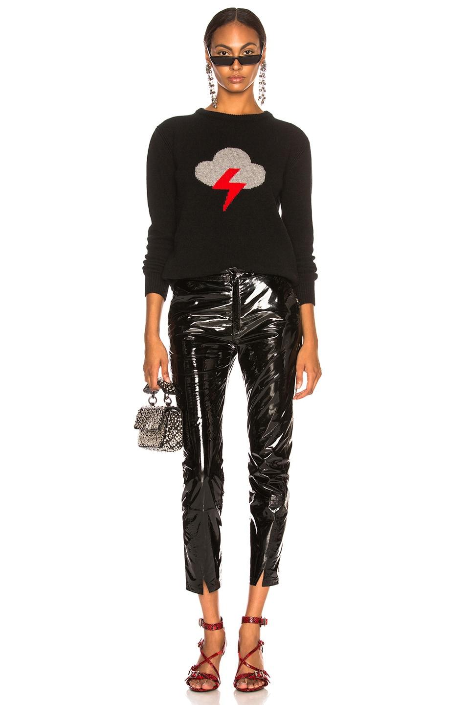 Image 5 of ALBERTA FERRETTI Thunderstorm Crewneck Sweater in Black, Grey & Red