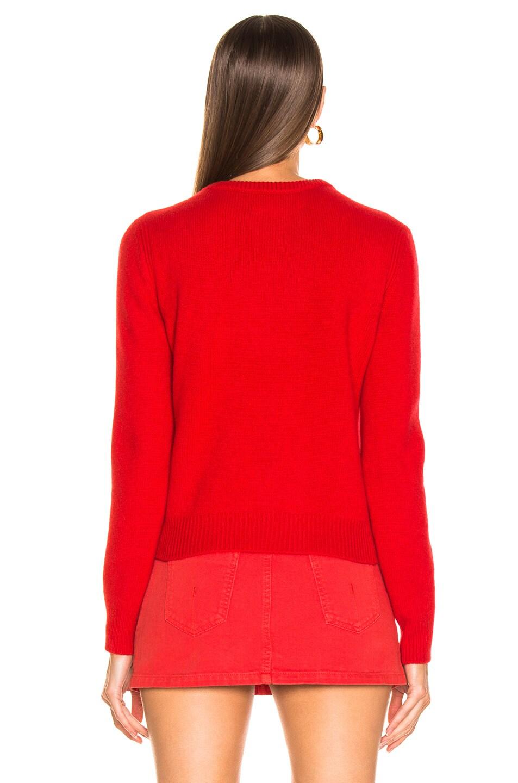 Image 5 of ALBERTA FERRETTI I Love You Sweater in Red