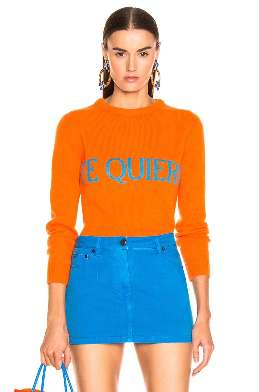 Image 1 of ALBERTA FERRETTI Te Quiera Sweater in Orange