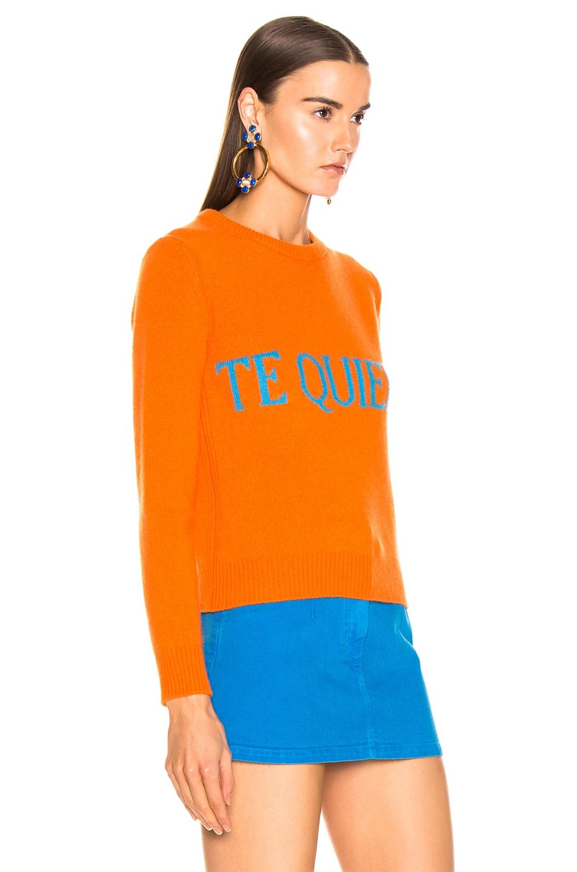Image 3 of ALBERTA FERRETTI Te Quiera Sweater in Orange