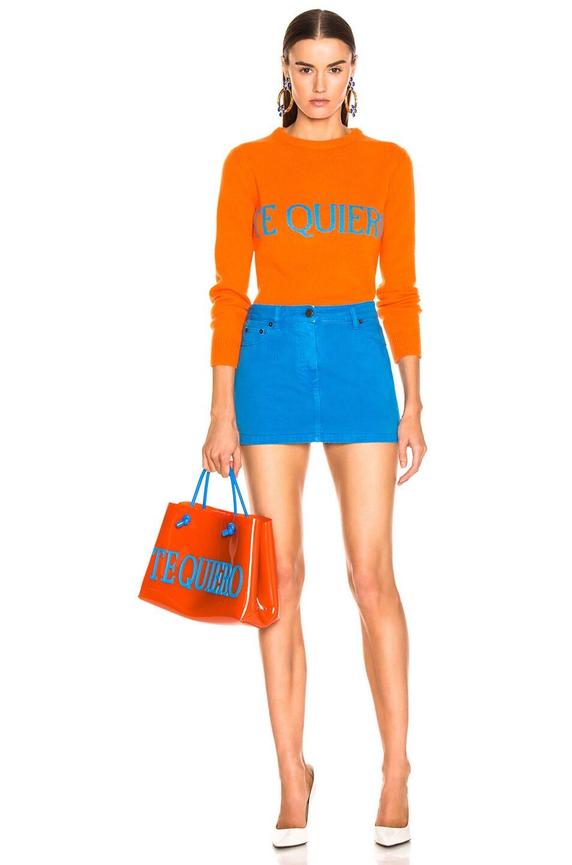 Image 6 of ALBERTA FERRETTI Te Quiera Sweater in Orange
