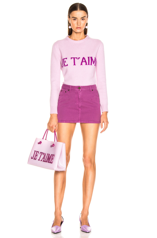 Image 6 of ALBERTA FERRETTI Je Taime Sweater in Light Pink