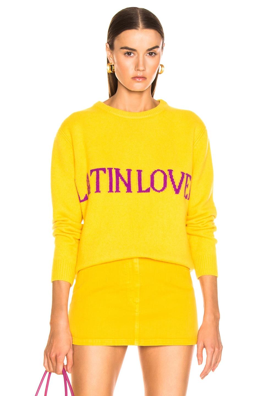 Image 1 of ALBERTA FERRETTI Latin Lover Sweater in Yellow