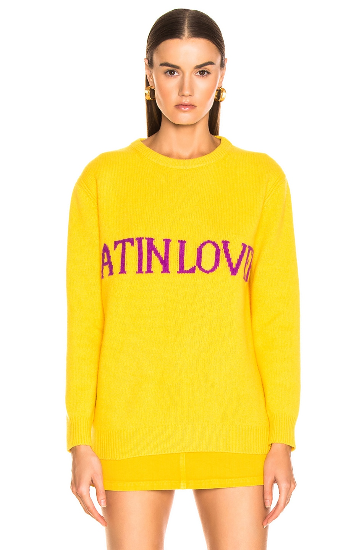 Image 2 of ALBERTA FERRETTI Latin Lover Sweater in Yellow